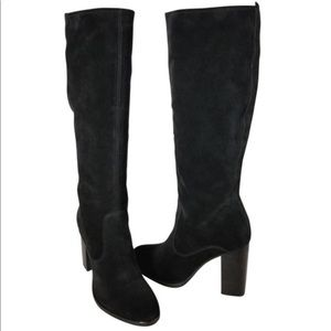 NWT! Frye Claude Tall Black Suede Boot
